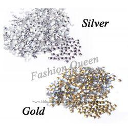 Украшения под золото и серебро, квадрат для маникюра