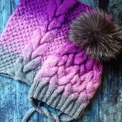 Зимняя шапка ручной работы
