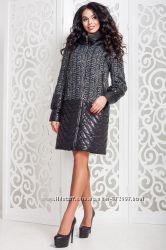 Пальто женское демисезонное комбинированное