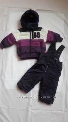 Комплект зимний. Куртка и полукомбенизон. Р. 74. Не был в носке.