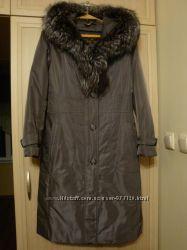 Пальто женское зимнее демисезонное 2 в 1 пуховик, р. 46