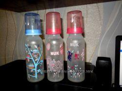 Бутылка бутылочка Nuk полипропиленовая для кормления с соской