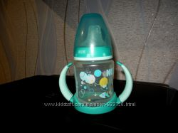 Поильник бутылочка бутылка Nuk с ручками