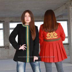 пальто женское с вышивкой