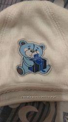 утепленная шапочка для новорожденного
