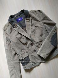 Вельветовый демисезонный пиджак на подкладке