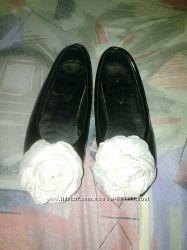 Туфли черные лак 18, 5см