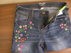 Джинсы скинни с вышивкой Cat & Jack для девочки, размер 12