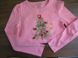 Лонгслив c вышивкой Gymboree для девочки, размер М 7
