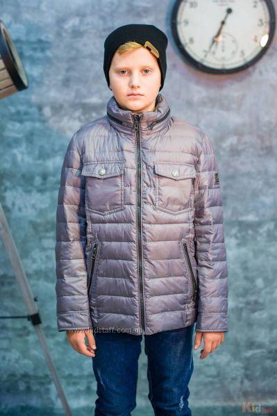Куртка демисезонная серого цвета для мальчика Snowimage