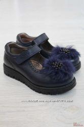 Туфельки для девочки синего цвета Kemal Pafi