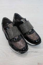 Кроссовки черные с принтом под змеиную кожу Kemal Pafi