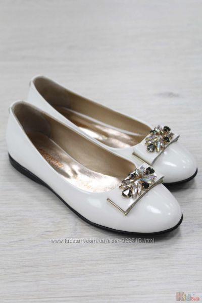 Туфли молочного цвета для девочки Kemal Pafi