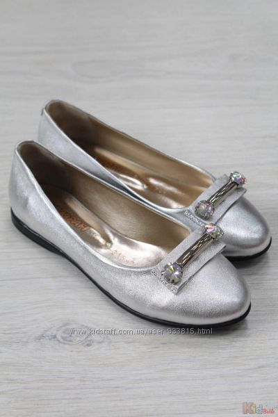 Туфли серебристого цвета для  девочки Kemal Pafi