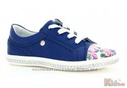 Мокасины синего цвета  для девочки Bartek