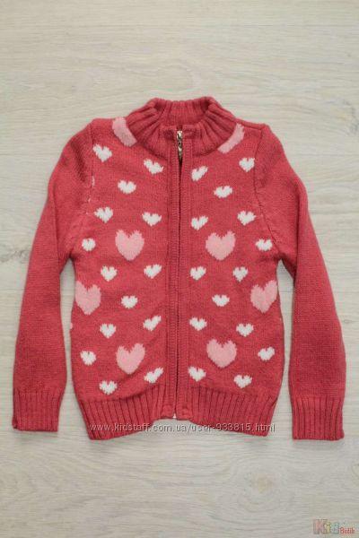 Вязаная розовая кофточка для девочки Ada Yildiz