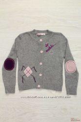 Кофта для девочки вязаная серого цвета Bulicca