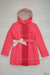 Пальто для девочки коралловое New Soon