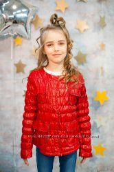 Куртка для девочки из искусственной кожи Meng Yiyan