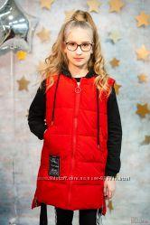 Жилетка красного цвета для супер стильных модниц Beijiashang