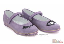 Туфли фиолетового цвета из нубука для девочки Bartek