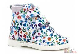 Ботинки ортопедические с цветочным принтом Bartek