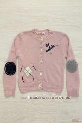 Кофта для девочки вязаная розового цвета Bulicca