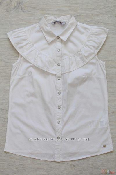 Рубашка белого цвета на короткий рукав для девочки Tiffosi