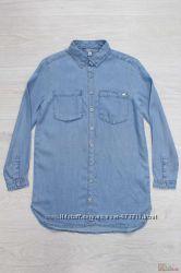 Рубашка голубая джинсовая Tiffosi