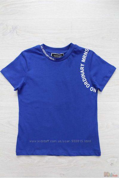 Футболка синего цвета  с принтом для мальчика Marions
