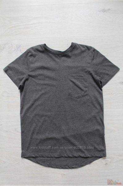Футболка серого цвета с накладным карманом для подростка Marions