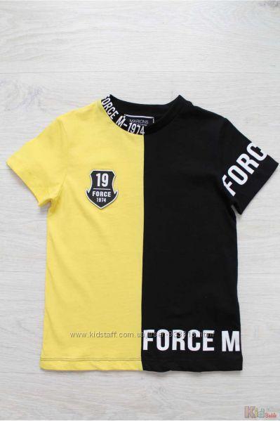 Футболка желто-черная для мальчика Marions