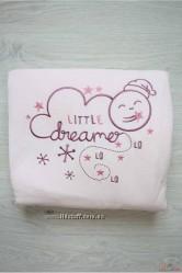 Одеяло-конверт розового цвета для новорожденной девочк Bebetto