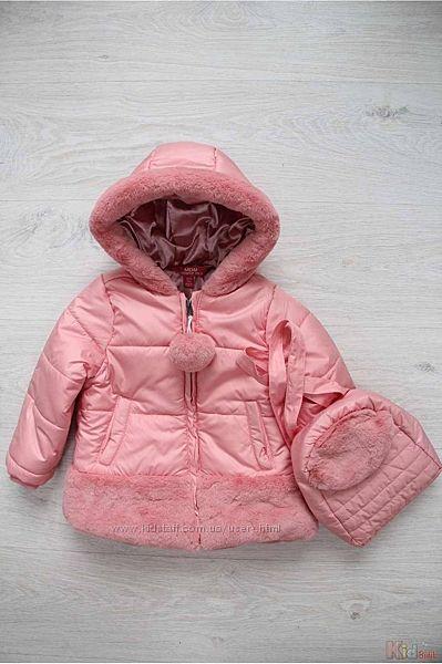 Куртка для девочки с рюкзачком розовая Midimod