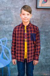 Сорочка для хлопчика клетчатая фланелевая Tiffosi
