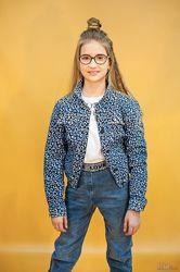 Куртка джинсовая в лепардовый принт A-yugi Jeans