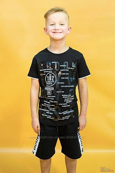 Футболка черного цвета для мальчика A-yugi Jeans