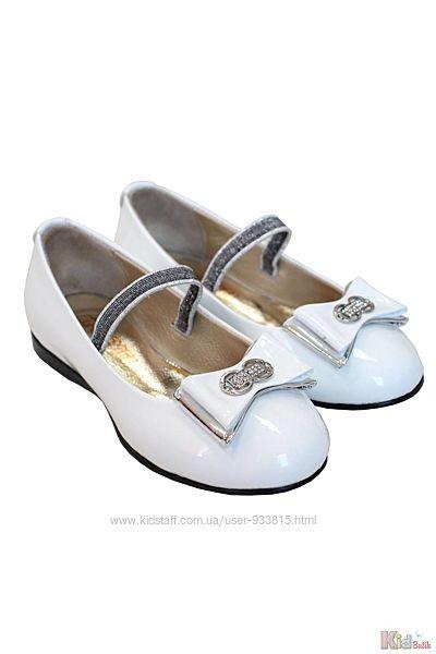 Туфли белого цвета для девочки Kemal Pafi