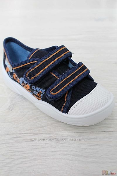 Полукеды синего цвета для маленького мальчика Befado