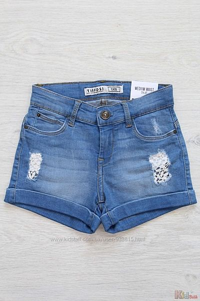 Шорты джинсовые с кружевом для девочки Tiffosi