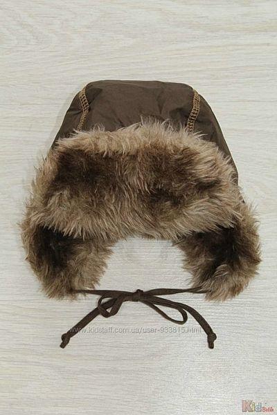 Шапка-ушанка коричневого цвета  для мальчика Broel