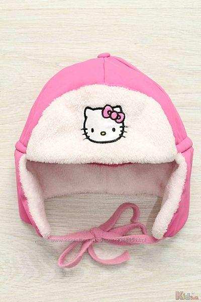Шапка-ушанка для девочки Hello Kitty