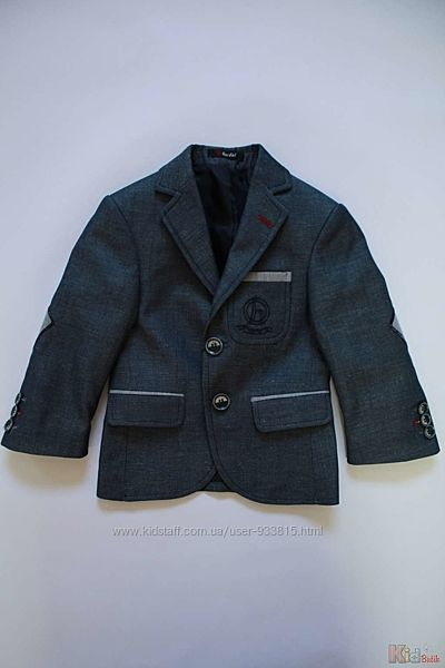 Пиджак для мальчика сине-серого цвета Herdal