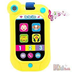 Интерактивный смартфон желтый BeBeLino