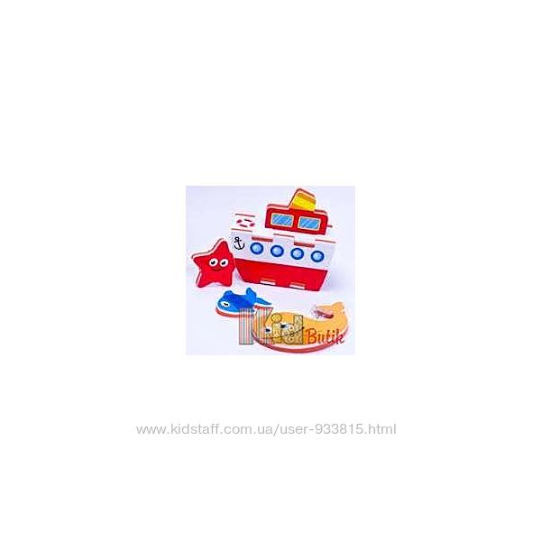 Игровой набор для ванны 3D модель Параход Meadow Kids