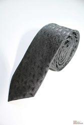 Галстук для мальчика серого цвета с узором Herdal
