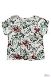 Блузка с растительным принтом для девочки NK Unsea