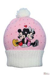 Шапка розовая вязаная Микки и Минни Disney