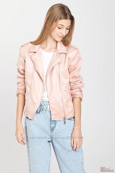 Куртка-косуха нежно-розового цвета для девочки Reporter Young