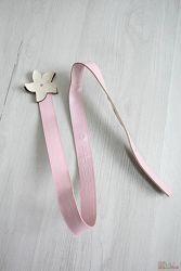 Ремень нежно-розовый с цветком Wenice